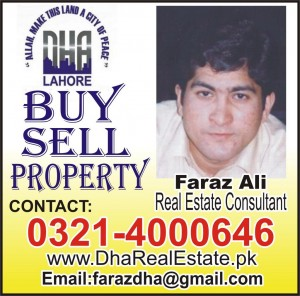 Plots For Sale By Lahore Real Estate DHA Lahore,