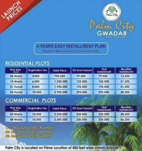 Palms city gwadar details