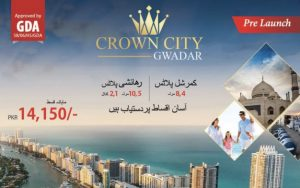 Crown City Gwadar booking schedule