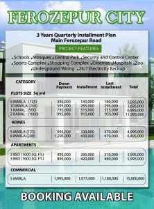 Ferozepur City Housing Scheme Lahore Files Rates installment Schedule Payment Plan Location Map NOC Status Prices updates for more information Call Faraz 0321-4000646 IslamEstate for Property Rates visit http://DhaRealEstate.pk
