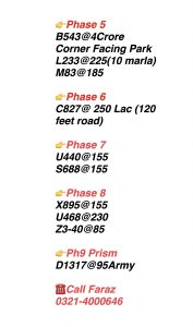 Dha Lahore Plots Rates , Dha Lahore Plots For Sale ,