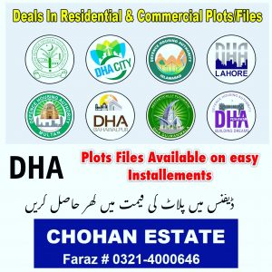 Dha Lahore Gujranwala Multan Bahawalpur Peshawar Gawdar Plots Files Residential Commercial Property Rates Latest News Updates Plots Files for Sale