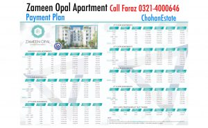 Zameen Opal Lahore Luxurious Residential Apartments on a very easy Installements payment plan