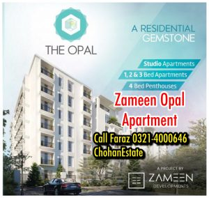 Zameen Opal Lahore Luxurious Residential Apartments On easy Installements