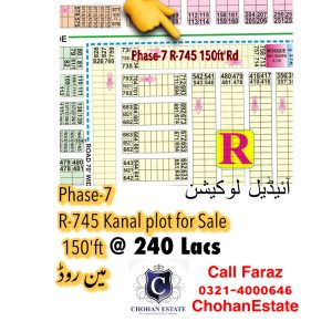 Dha Lahore Phase 7 ideal Location Plot for sale