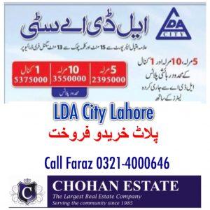 LDA City Lahore Plot Files for Sale